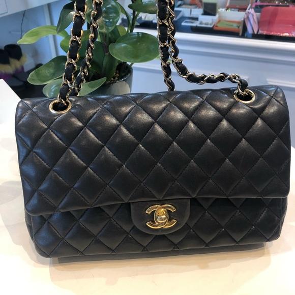 ae9bc514a740 CHANEL Bags | Classic Flap Bag Medium Size Lamb Skin | Poshmark